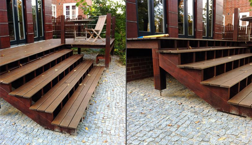 Terrasse Mit Treppe Raum und Möbeldesign Inspiration